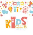 kids club banner template children land vector image vector image