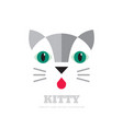 kitty - logo concept cat sign vector image