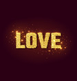 love golden glow background for valentines day vector image vector image