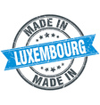 made in Luxembourg blue round vintage stamp vector image vector image