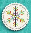 Merry Christmas and new year fun snowflake design vector image vector image