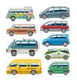 minivan car van auto vehicle family minibus vector image vector image