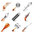 old weapons for game vector image