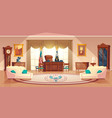 oval cabinet in white house vector image vector image