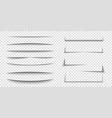 paper sheet shadow effect 3d line edge shape vector image vector image