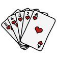 poker royal flush vector image