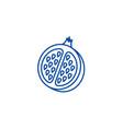 pomegranate line icon concept pomegranate flat vector image vector image
