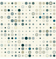 seamless geometric pattern color circles vector image