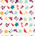 seamless pattern with food vector image vector image