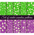 Seamless patterns Christmas Winter pattern vector image vector image