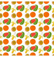 seamless wrapping fruit elements retro style vector image