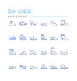 set color line icons shoes vector image vector image