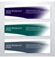 Set of 3 blue web banners vector image vector image