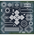 set of baroque ornaments vector image