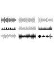 sound waves music in black and white or equalize vector image