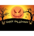 Spooky card for Halloween vector image vector image