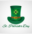 st patrick day leprechaun hat vector image vector image