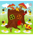 stump house insects vector image vector image