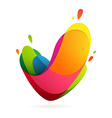 V letter volume logo vector image vector image