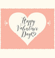 valentine card with inscription and heart vector image vector image