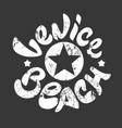 venice beach t-shirt print vector image