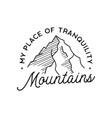 vintage simple mountains logo design outdoor vector image vector image