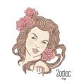 zodiac of virgo as girl with vector image