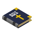 Holy Bible isometrics Religious book New Testament vector image