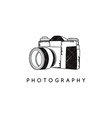 photography camera theme vector image