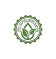 100 organic natural badge label seal sticker logo vector image vector image