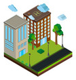 3d design for buildings along the road vector image vector image