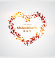 3d realistic red hearts background vector image vector image