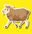 a simple sheep character vector image