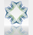 abstract background with mirror blue and vector image vector image