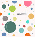 abstract of colorful retro circle pattern vector image vector image