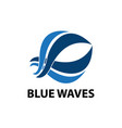 abstract wave logo design template vector image vector image