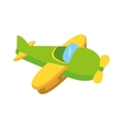 airplane cute toy isolated icon vector image vector image