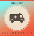 ambulance symbol icon vector image vector image