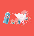 anti mosquito spray scared and dead mosquitoes vector image