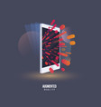augmented reality visual technology stylized icon vector image vector image