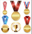 awards and trophies collection vector image vector image