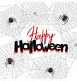 background with black widow spiders vector image vector image