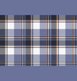 blue check pixel tartan seamless fabric texture vector image vector image