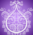 Buddha tree on a violet vector image vector image