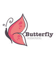 butterfly insect isolated emblem corporate vector image