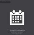 calendar premium icon vector image vector image