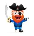 Cartoon funny pirate vector image vector image
