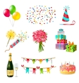 Celebration Icons Set vector image vector image