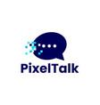 chat talk social message pixel mark digital 8 bit vector image