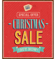 Christmas sale typographic design vector image